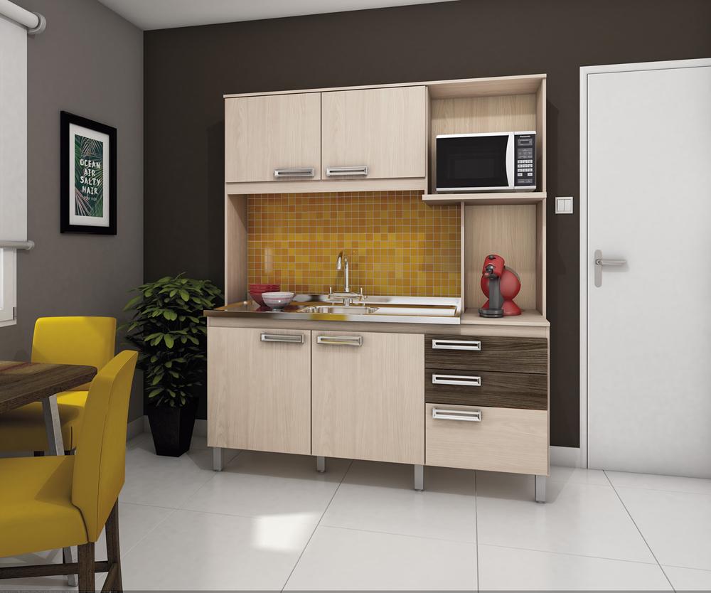 Cozinha Compacta B108 Fendi Moka Briz Milani Store